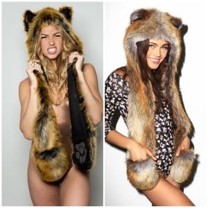 SpiritHoods Red Wolf faux fur hood 2011-2012